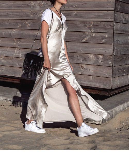 silver kleid