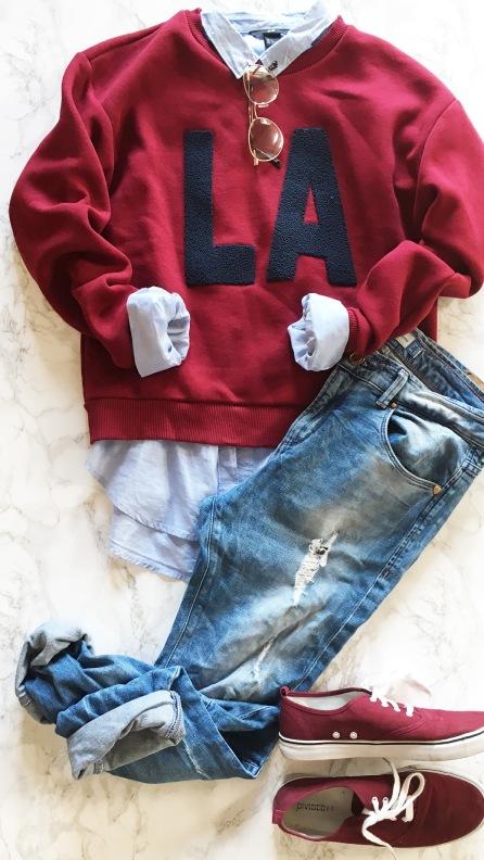 jeans marsala