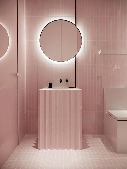 pink lavabo
